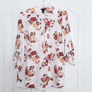 Rue 21 fall floral blouse
